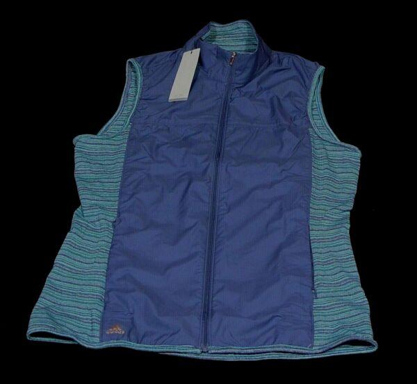 adidas Jacke Shirt Weste Sweatshirt Wind Vest AF0262 Blau Grün Größe L