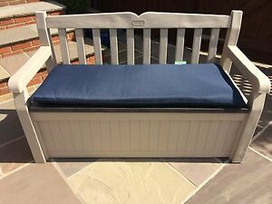 Image Is Loading Keter Eden Plastic Garden Storage Bench Comes With