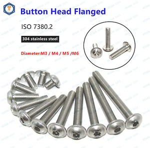 340x//set M3 Button Head Hex Socket Screw Bolt Nut Stainless Steel Screws  UE
