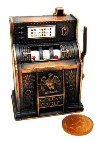 Escala 1:12 de trabajo un brazo bandido máquina tragaperras tumdee Muñecas House Pub Juegos