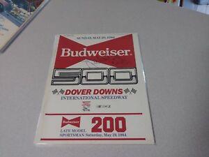 Richard-Petty-Signed-Autographed-1984-Budweiser-500-Program-NASCAR-Race-Winner