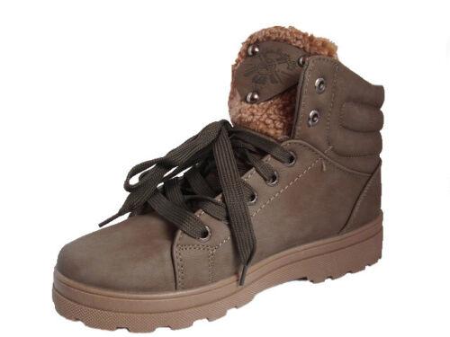 Femmes Filles Bottes Hiver Chaussures Bottines Doublure Marron