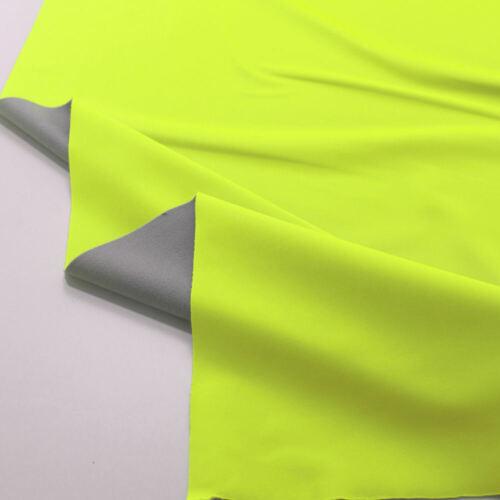 Softshell Outdoor Stoff mit Winter Fleece 2mm wasserdicht und elastisch Gelb