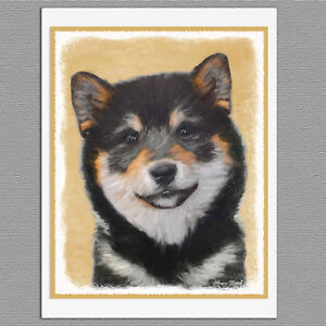 image is loading 6 shiba inu black and tan dog blank - Dog Greeting Cards
