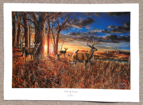 "Jim Hansel Popular Artist SIGNED /NUMBERED PRINT ""Out For The Evening"""