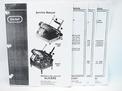 Berkel 808 /& 818 Slicer Service Manual /& Replacement Parts Catalog