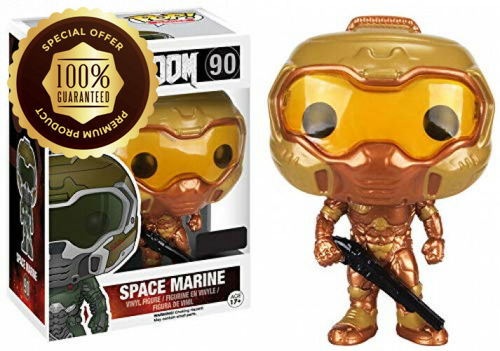 Funko Pop  Games DOOM Gold Space Marine  90 (Exclusive)
