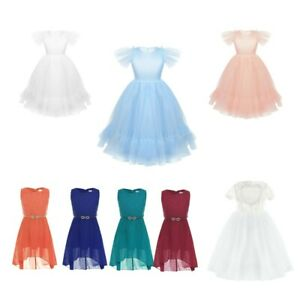 Flower-Girls-Dress-Princess-Gown-Party-Prom-Wedding-Bridesmaid-Birthday-Clothes