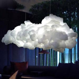 Modern Led Floating Cloud Pendant Light Cotton Silk Chandelier Ceiling Lamp New Ebay