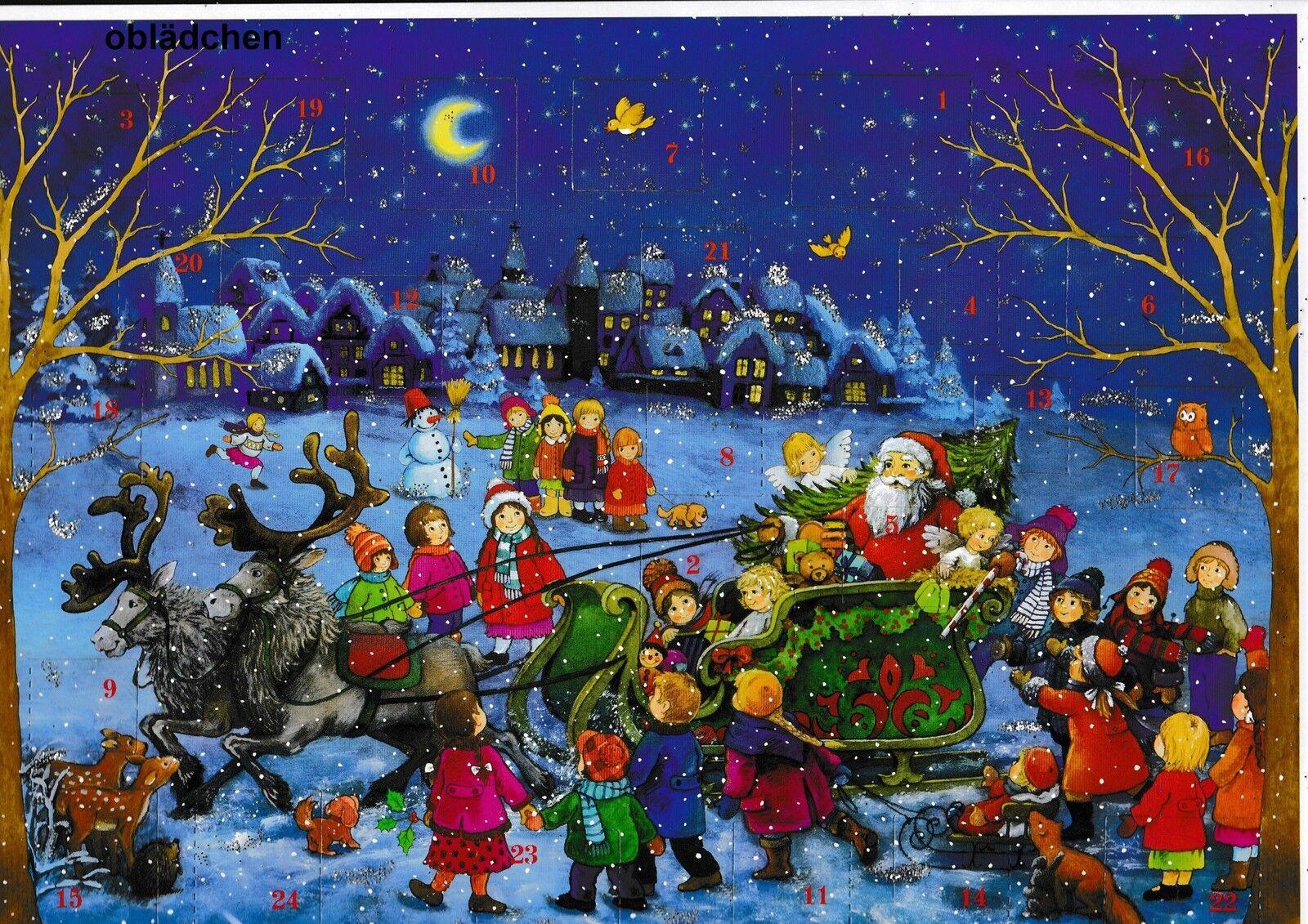 # Sellmer Calendario de Adviento Núm 98 # Trineo Navidad & Niños, Con Destellos