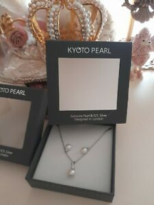 Kyoto Pearl Gift Boxed Set Sterling Silver