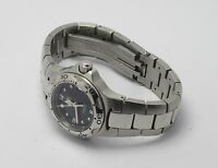 TAG HEUER WL1312 WOMENS PROFESSIONAL BLACK FACE STAINLESS STEEL WATCH