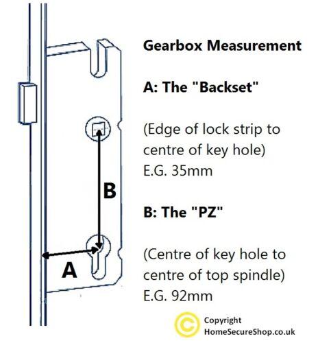 Yale G2000 PVC porte verrou centre cas boîte 35mm 92mm mécanisme