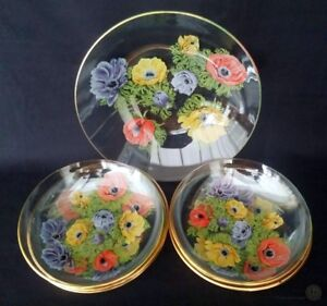 VTG Glass Poppy Dish Set | FREE Delivery UK*