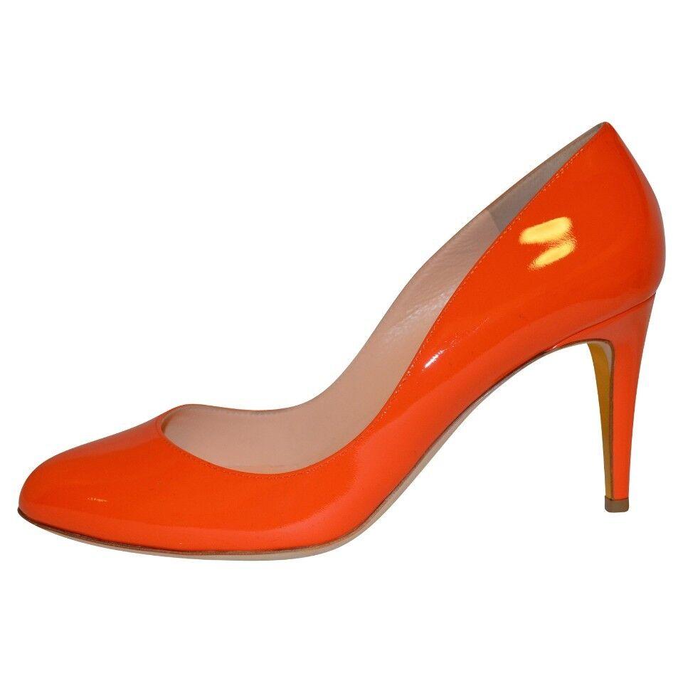 Warehouse Clearance Rupert Sanderson   orange leather Heel Pumps UK5 EU38