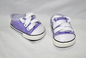 Fits-Our-Generation-American-Girl-Doll-Journey-18-Dolls-Purple-Runners-Sneakers