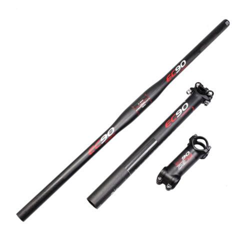 EC90 Carbon MTB Bike Parts Mountain Bicycle Riser//Flat Handlebar+Seatpost+Stem
