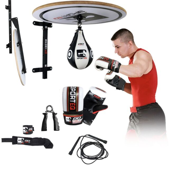 RDX 12PC Speed Ball Set Boxing Gloves Platform Stand Exercise Punching Mitts US