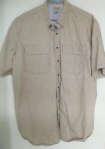 VTG-LL-Bean-Mens-Tan-Fishing-Outdoor-Hiking-Vented-Shirt-Size-XL