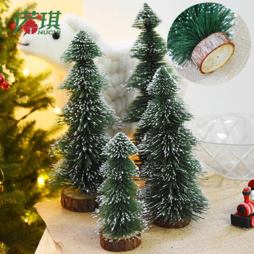 2018 New Tabletop Christmas Pine Tree White Mini Small Decorations Gifts 15~30cm