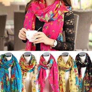 Elegant-Fashion-Womens-Ladies-Floral-Flower-Scarf-Shawl-Stole-Wraps-Scarves