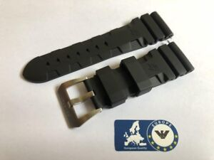 Rubber-Strap-for-Panerai-Luminor-Submersible-Officine-Black-26mm-Buckle-Vent-PA4