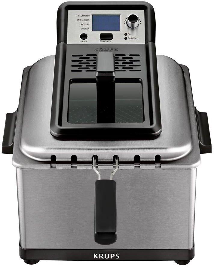 Countertop Deep Fryer Preset Function Adjustable Thermostat Lid 3 Frying Baskets
