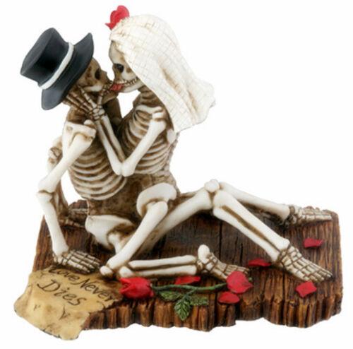 Love Never Dies Skeleton Halloween Wedding Cake Topper.bride Groom  Figurine.new   eBay - Love Never Dies Skeleton Halloween Wedding Cake Topper.bride Groom