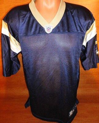 Mens Medium M St. Saint Louis Rams Blue Football Jersey No Name Reebok Blank NFL   eBay