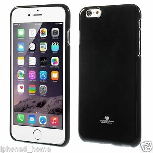 the latest 35992 8ca03 Details about iPhone 6 Plus 6s Plus Genuine MERCURY Goospery Metallic Black  Jelly Case Cover