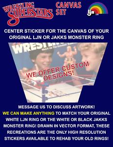 Toile de Rechange Autocollant pour LJN Wrestling Ring-WWF WWE Custom