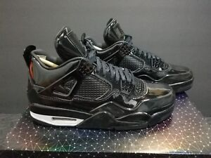 the latest a40a9 5cc6d Image is loading Nike-Air-Jordan-4-11Lab4-Black-Patent-Leather-