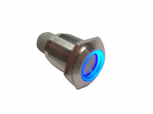 2 of MARINE SS304 BLUE LED ULTRA FLUSH LIGHT AUTO ON-OFF PUSH SWITCH RING BUTTON