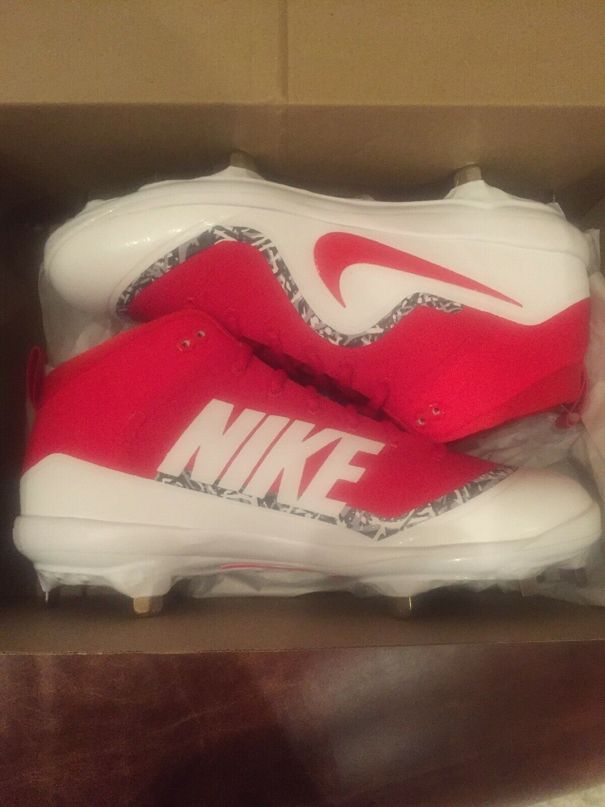 Nike Zoom Mike Trout 4 Cleats Black and White Baseball Men's Size 11.5 NWT