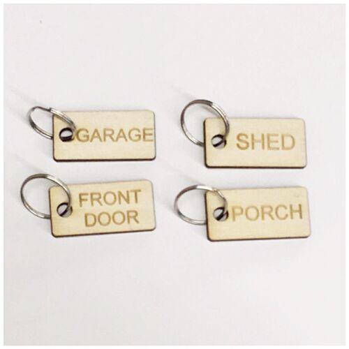 Set di x 6 Inciso Personalizzato Key Tag Caravan Porta organizzare Identifier etichetta