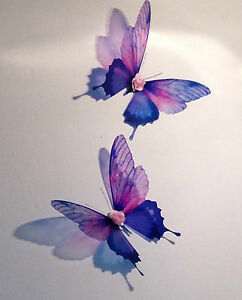 60 Strisce Di Raso Viola /& Dot Applique con farfalla//fiore Arco Strass MIX H339