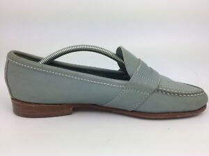 Cole-Haan-Women-039-s-Light-Blue-Leather-Penny-Loafers-Slip-On-Moccasins-Size-8-D