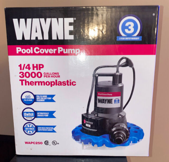 Wayne 57729-WYN1 EEAUP250 1//4 HP Automatic ON//OFF Electric Water Removal Pump