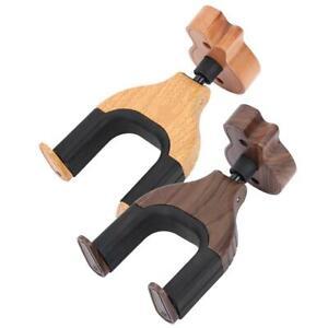 Guitar-Wall-Mount-Wood-Hanger-Holder-Manual-Auto-Lock-Hook-Stand-Hanging-Rack