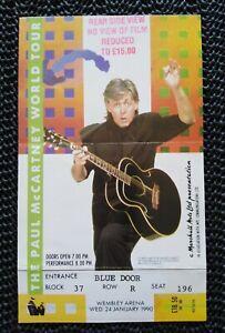 Paul 1990 World Tour Wembley Arena UK Original Concert Ticket Beatles McCartney