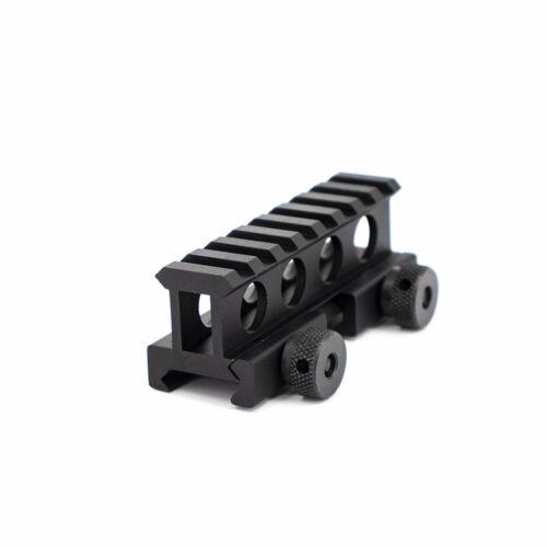 "Details about  /Valken Tactical 1/"" Riser Mount 8 Slots Airsoft Gun Rifle Accessory Black NEW"
