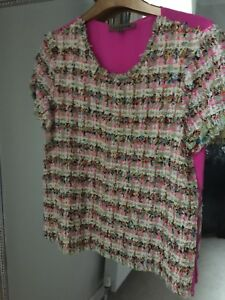 Jigsaw Without Tweed TopSize Silk New 10 Tags 2IDH9E