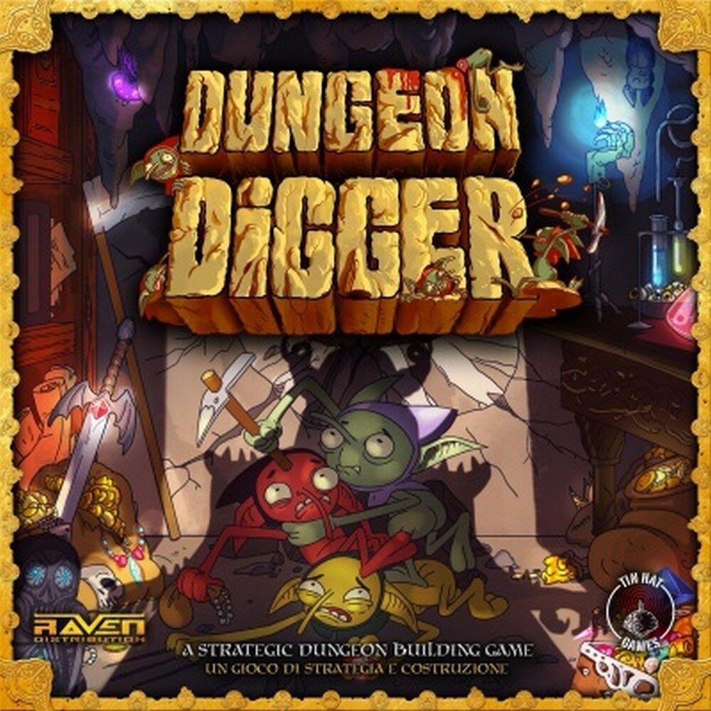 DUNGEON DIGGER Gioco  da Tavolo Italiano Raven eroi comico fantasyc tesori  nessun minimo