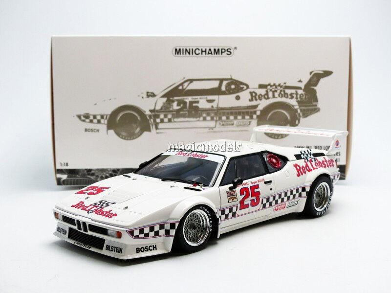 Minichamps BMW M1  Gagnant la Times Gp 1981 Cowart   Miller  25 en 1 18 Nouveau  magasin d'offre