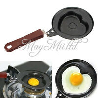 Outdoor Kitchen Non-stick Stainless Steel Frying Pan Love Heart Egg Pot LZ