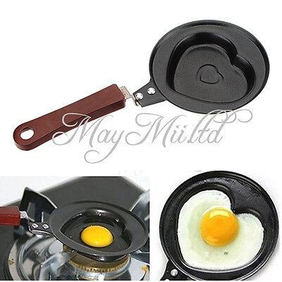 Outdoor Kitchen Non-stick Stainless Steel Frying Pan Love Heart Egg Pot JM
