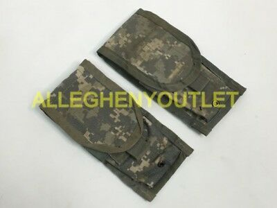 Lot of 2 US Army ACU DOUBLE MAG POUCH Ammo Magazine Utility MOLLE USGI VGC