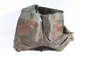 alte Lederhose Bund 31 cm true vintage hose Leder Kurz