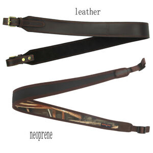 Tourbon-Leather-Neoprene-Shotgun-Sling-Carry-Straps-Hunting-Shooting-Adjustable