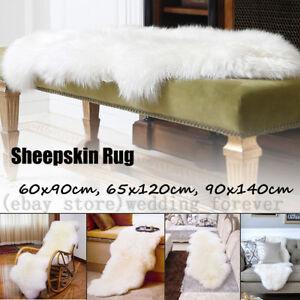 Genuine Natural Sheepskin Rug Long Wool Carpet Sofa Mat Floor Area Rugs Lambskin